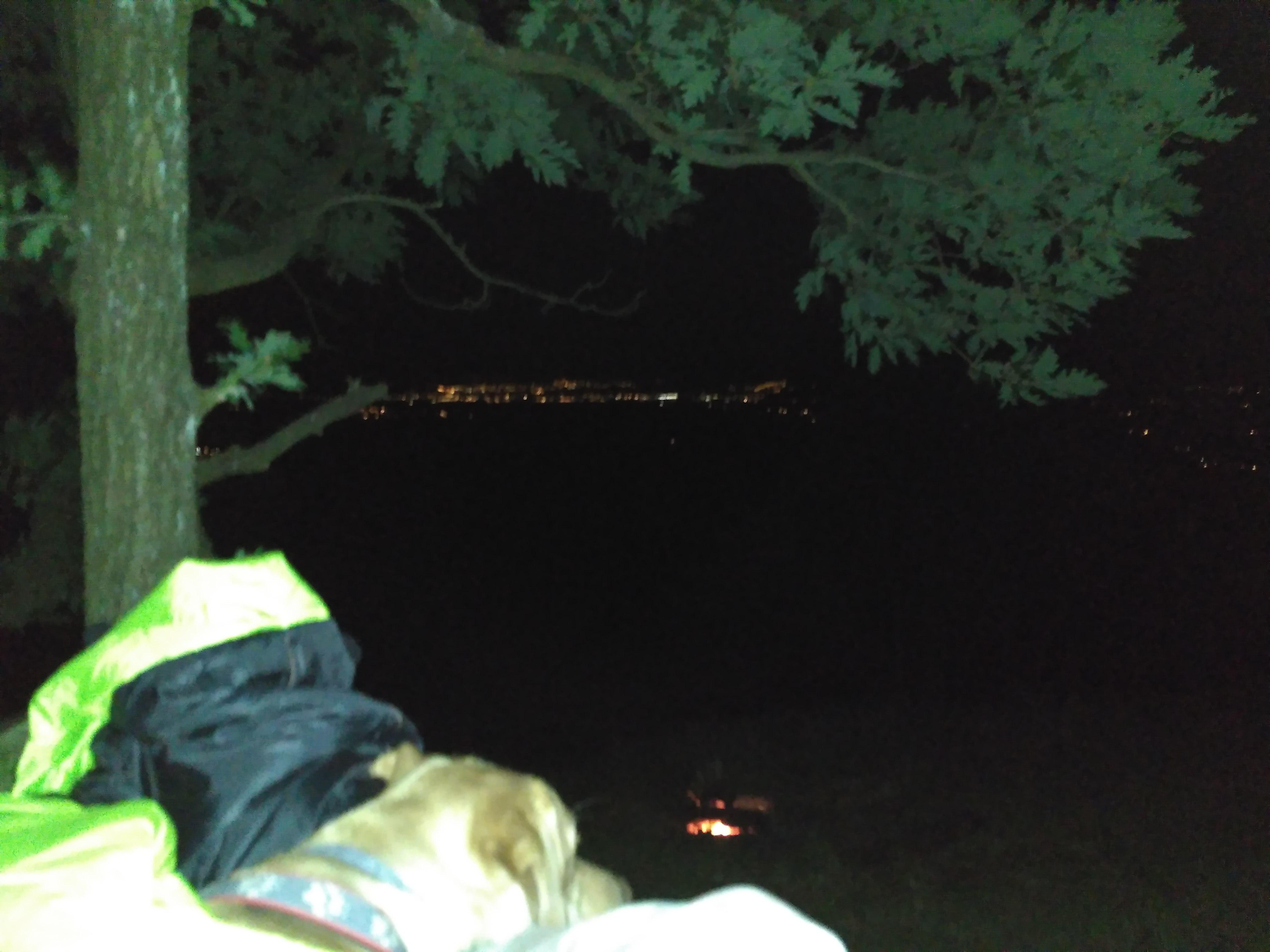 Widoki z posłania w nocy