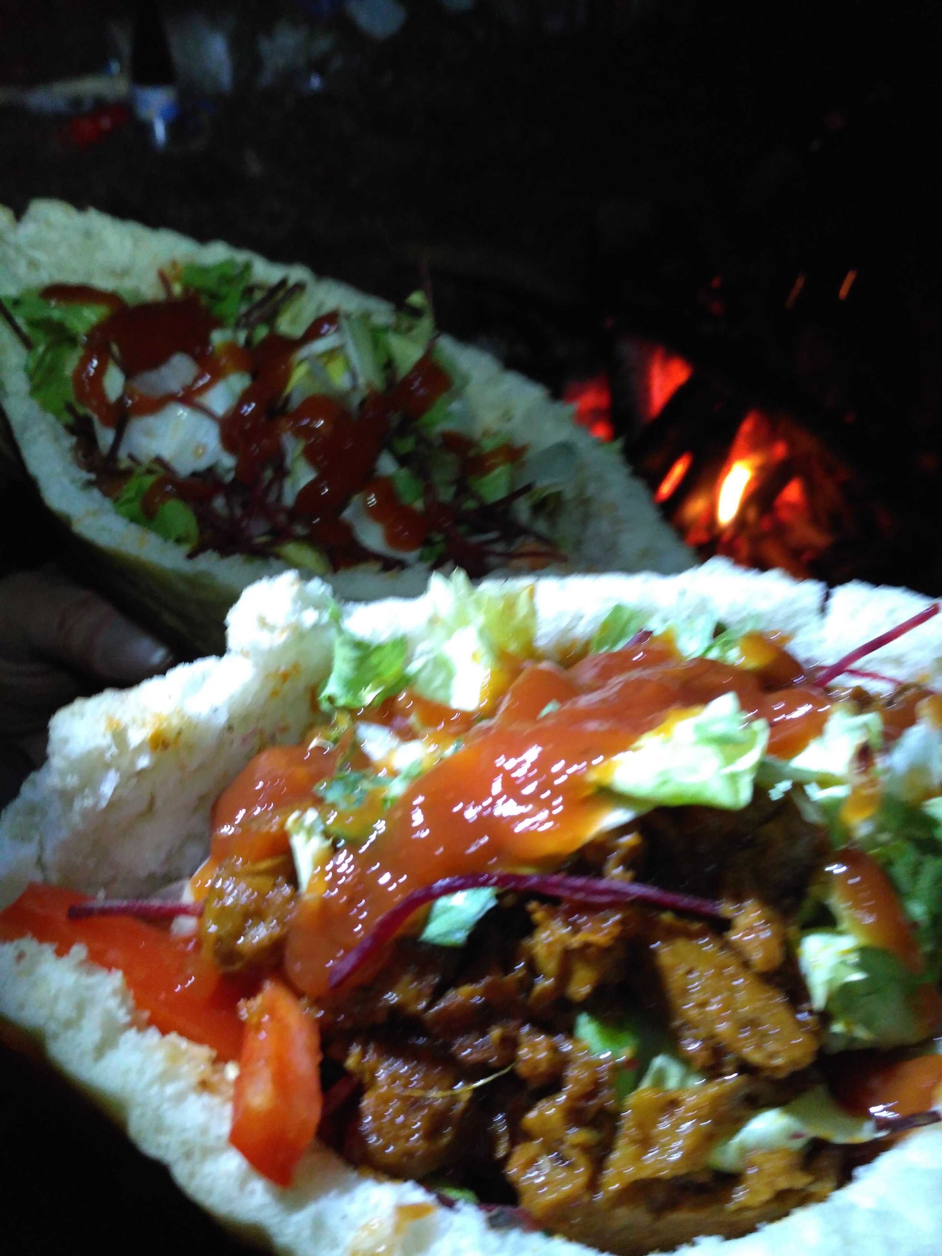 Vegan kebab w knyszy - to się nazywa jedzonko.