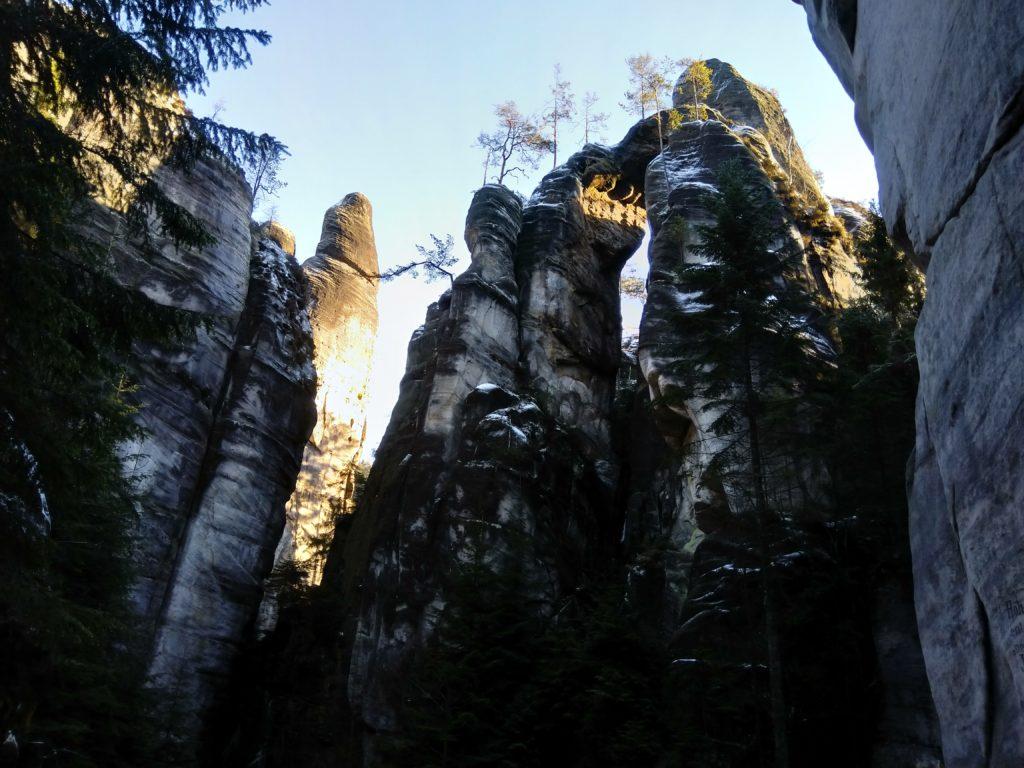 Formacje skalne w Adrspach
