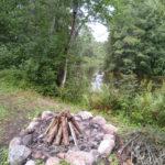 Ognisko nad samą rzeką